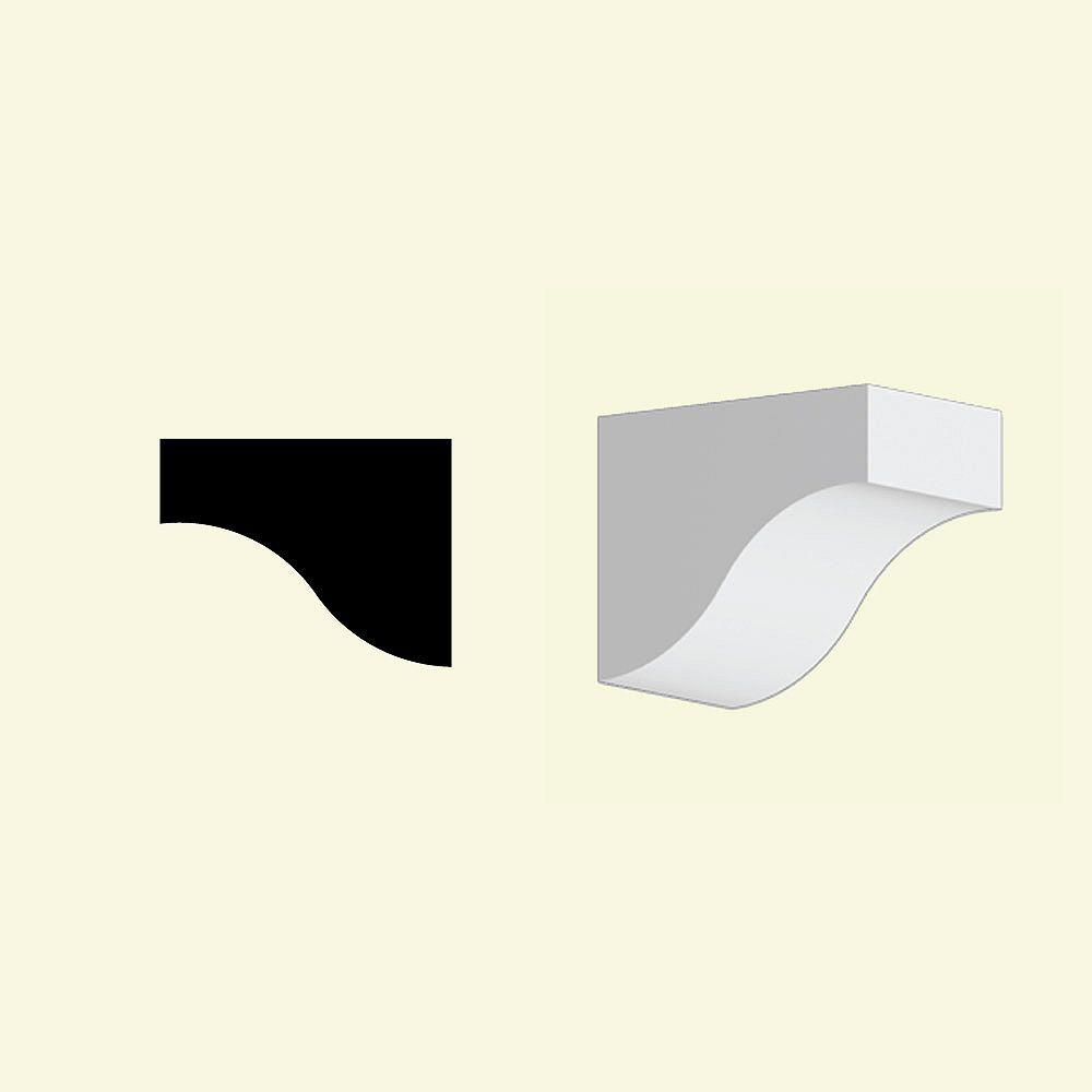 Fypon 5 3/8-inch x 4 3/8-inch x 6 7/8-inch Primed Polyurethane Dentil Block