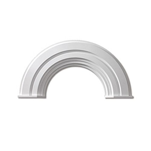 60 Inch x 41-1/4 Inch x 2-3/4 Inch Polyurethane Half Round Arch Decorative Trim with End Cap
