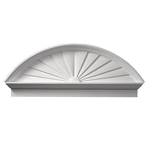 50 Inch x 20-3/4 Inch x 3-1/8 Inch Smooth Combo Sunburst Pediment