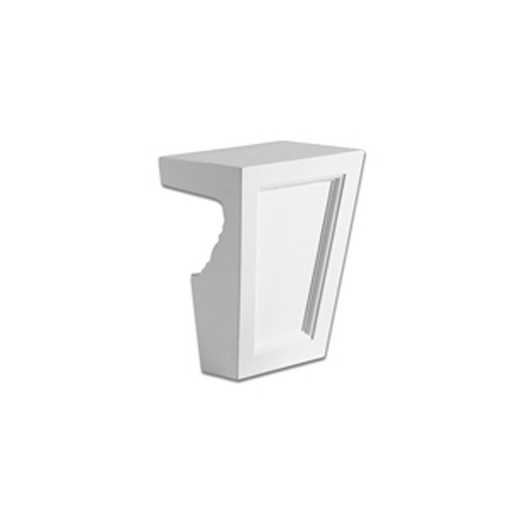 Fypon 8 Inch x 8-1/2 Inch x 4-19/32 Inch Polyurethane Keystone Crosshead Profile