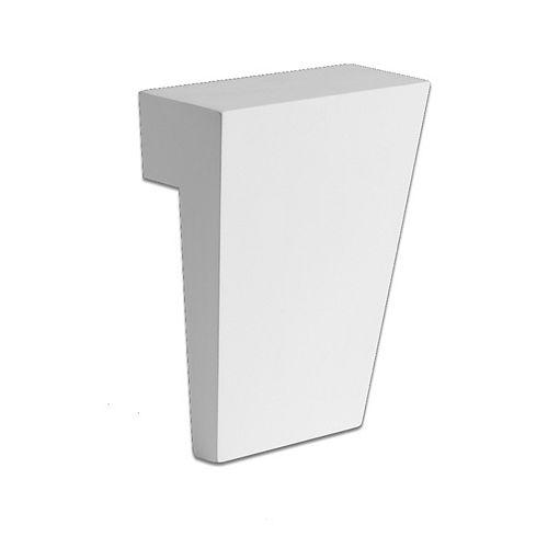 43 Inch x 9 Inch x 4-1/2 Inch Polyurethane Keystone for Flat or Arch Trim