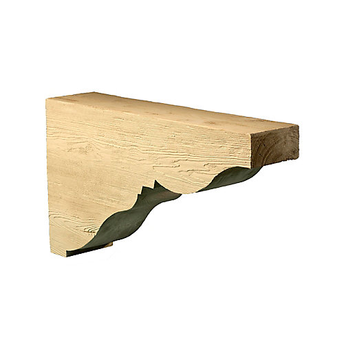 Console en composite à texture de grain de bois non fini 7-3/8 po x 18-3/4 po x 33-3/4 po