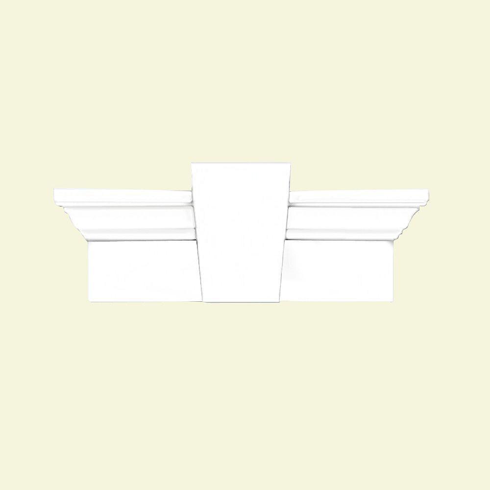 Fypon Linteau avec clé de voûte lisse 80 po x 7 po x 3-7/8 po