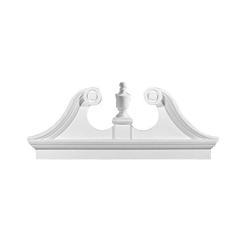 54 Inch x 23-1/2 Inch x 3-1/8 Inch Smooth Combo Rams Head Pediment