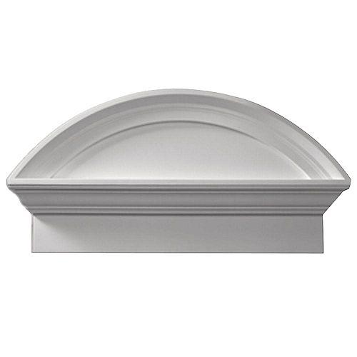 38 Inch x 20 Inch x 4-1/2 Inch Smooth Combo Segment Arch Pediment