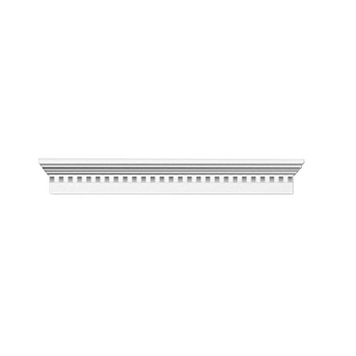 44 Inch x 9 Inch x 4-1/2 Inch Crosshead with Smooth Trim Dentil
