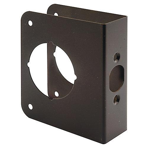 Cornière de porte de 1-3/8 po H X 2-3/8 po. BS  2-1/8 po. Bronze, laiton solide.