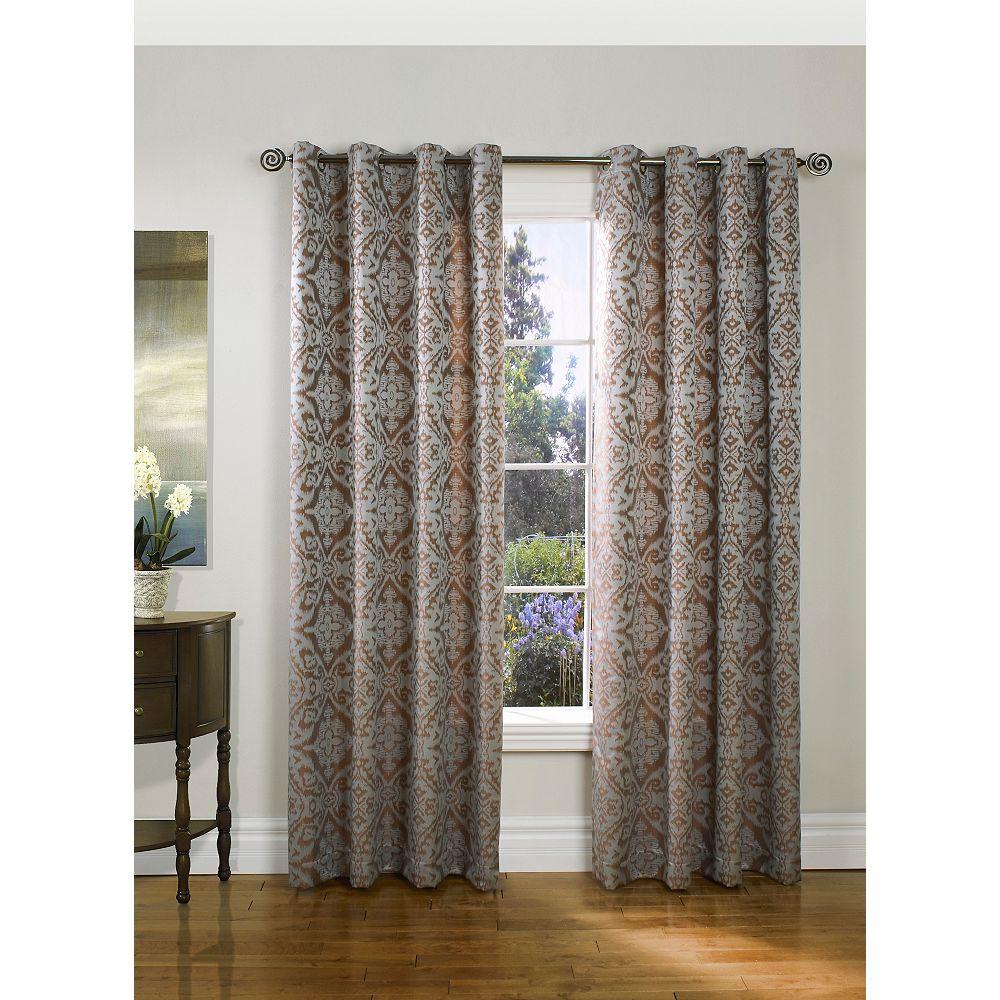 Habitat Ikat Grommet Curtain  - Mauve