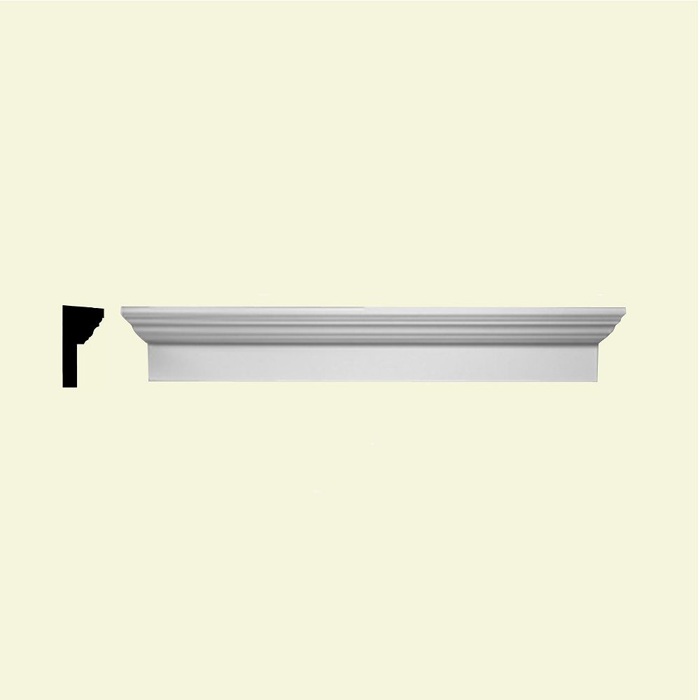 Fypon Linteau pour porte/fenêtre en polyuréthane apprêté 64 po x 6 po x 3 po