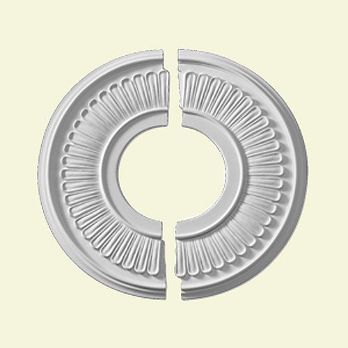Rosace de plafond Jefferson lisse 15-1/2 po (2 pièces)