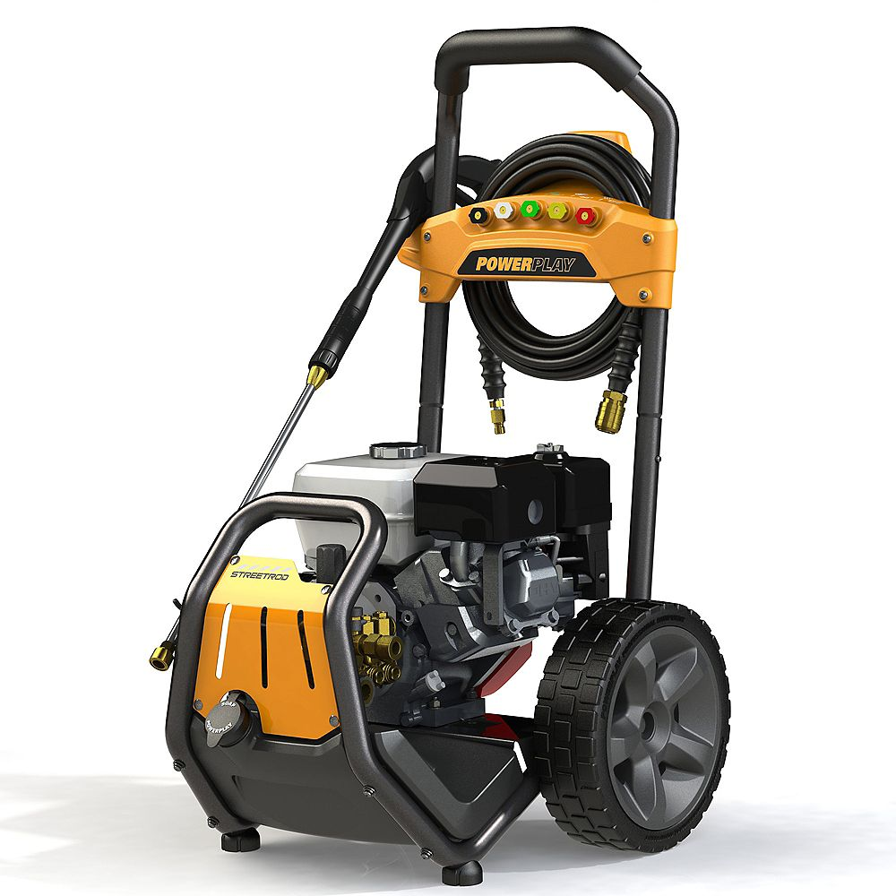 Powerplay Streetrod 3300 PSI 2.7 GPM Professional Gas Pressure Washer with Honda GX200 Engine and AR Triplex Pump