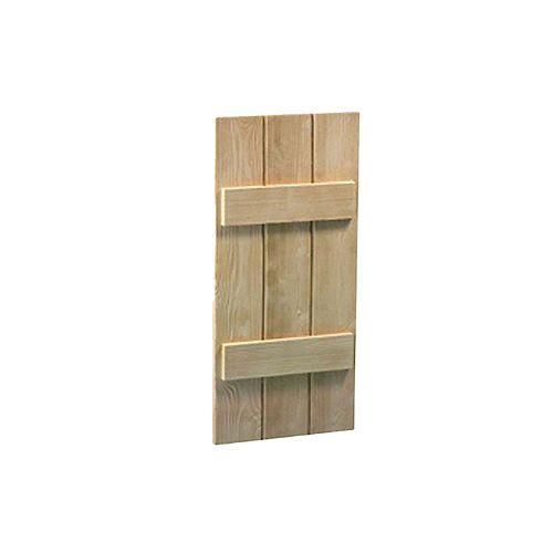 47 Inch x 14 Inch x 1-1/2 Inch Wood Grain Texture 3-Board and Batten Shutter
