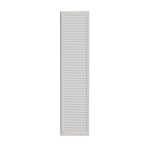 42 Inch x 12 Inch x 1 Inch Louvered Smooth Shutter