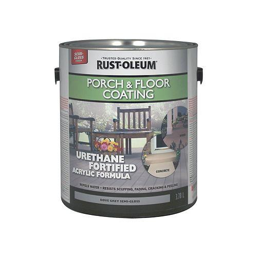 Porch & Floor Coating In Semi-Gloss Dove Grey, 3.78 L