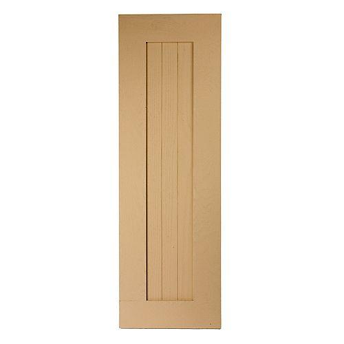 46 Inch x 15 Inch x 1 Inch Wood Grain Texture 3-Plank Board and Batten Shutter