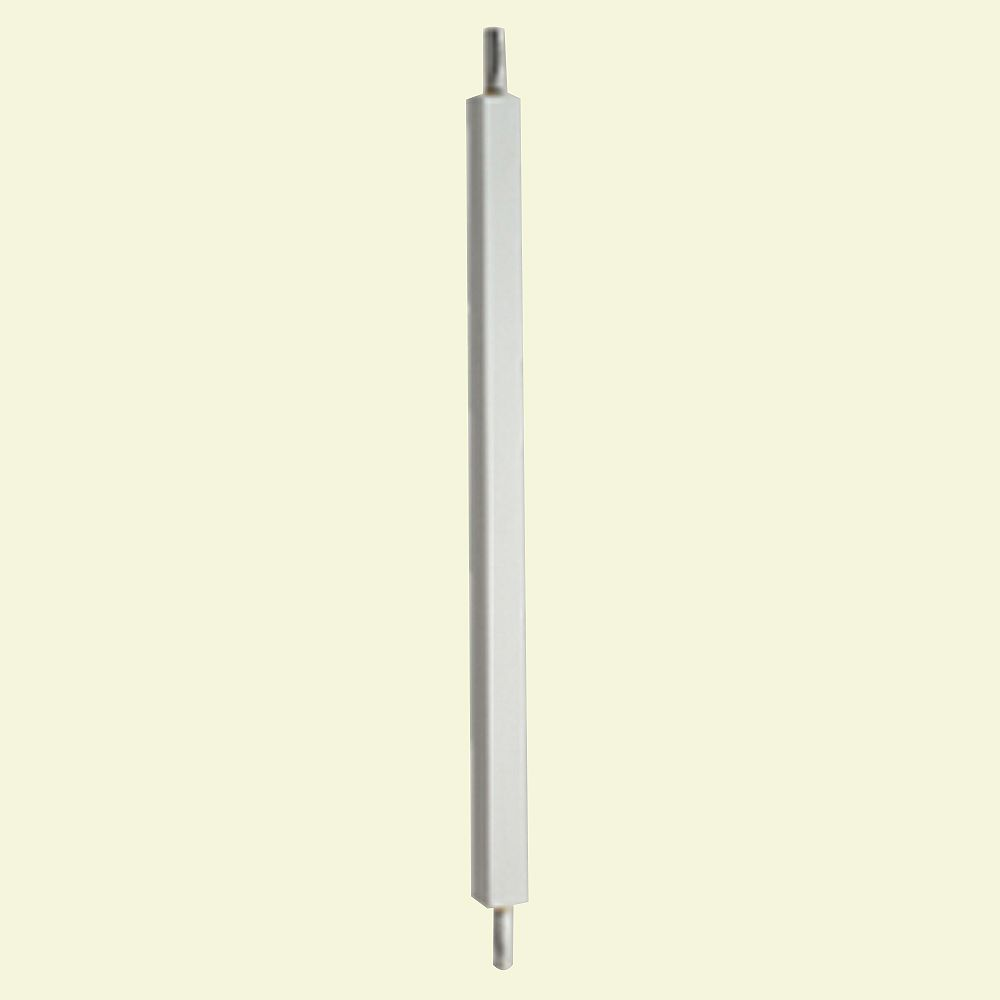 Fypon 28 Inch x 1-3/4 Inch x 1-3/4 Inch Polyurethane Smooth Surface Square Baluster for 5 Inch Balustrade System