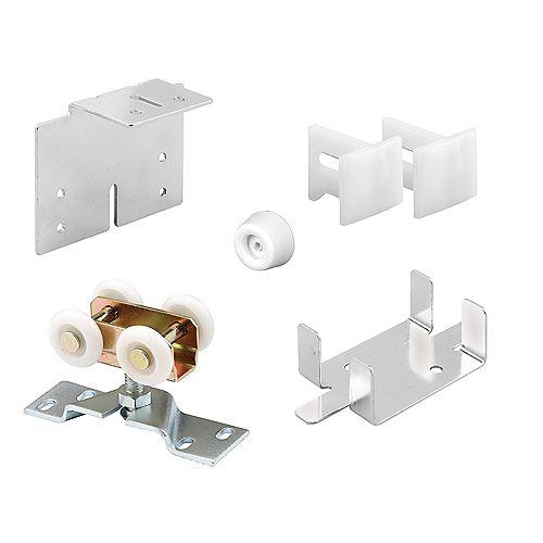 Pocket Door Roller Kit, 1 in. Wheels, Plastic, Steel and Rubber Components (1 kit)