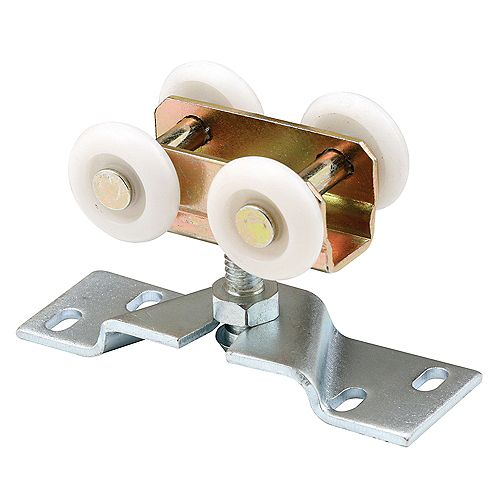 Stamped Steel, Bi-Fold Door Roller Assembly, Four 1 in. Nylon Rollers