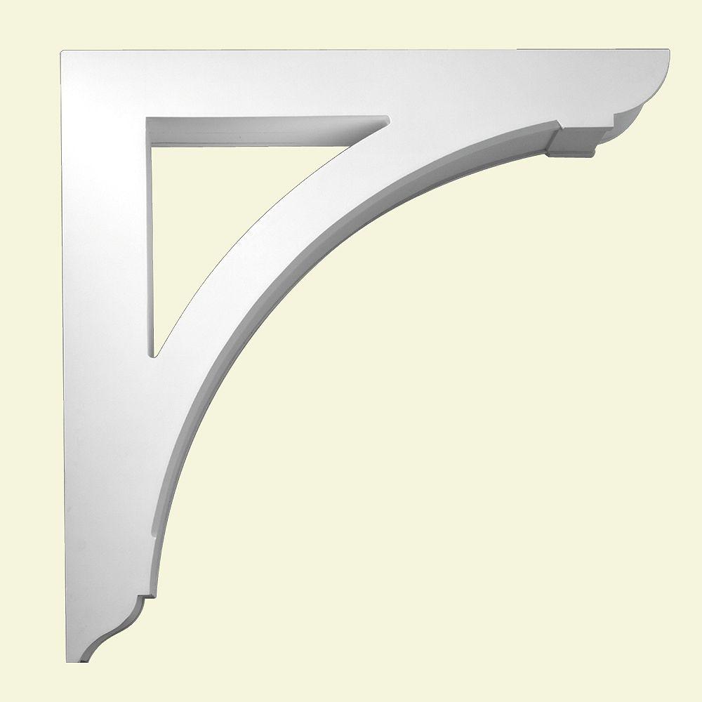 Fypon 36 1/8-inch x 36 1/8-inch x 6-inch Primed Polyurethane Bracket Moulding