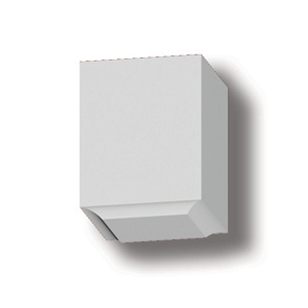Fypon 4 1/2-inch x 3 1/2-inch x 3 1/2-inch Primed Polyurethane Dentil Block