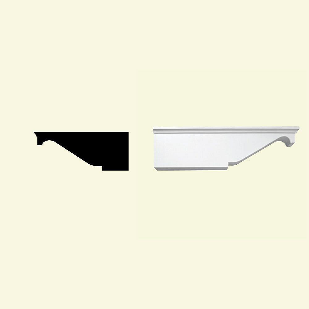 Fypon 7 3/8-inch x 7-inch x 18-inch Primed Polyurethane Dentil Block
