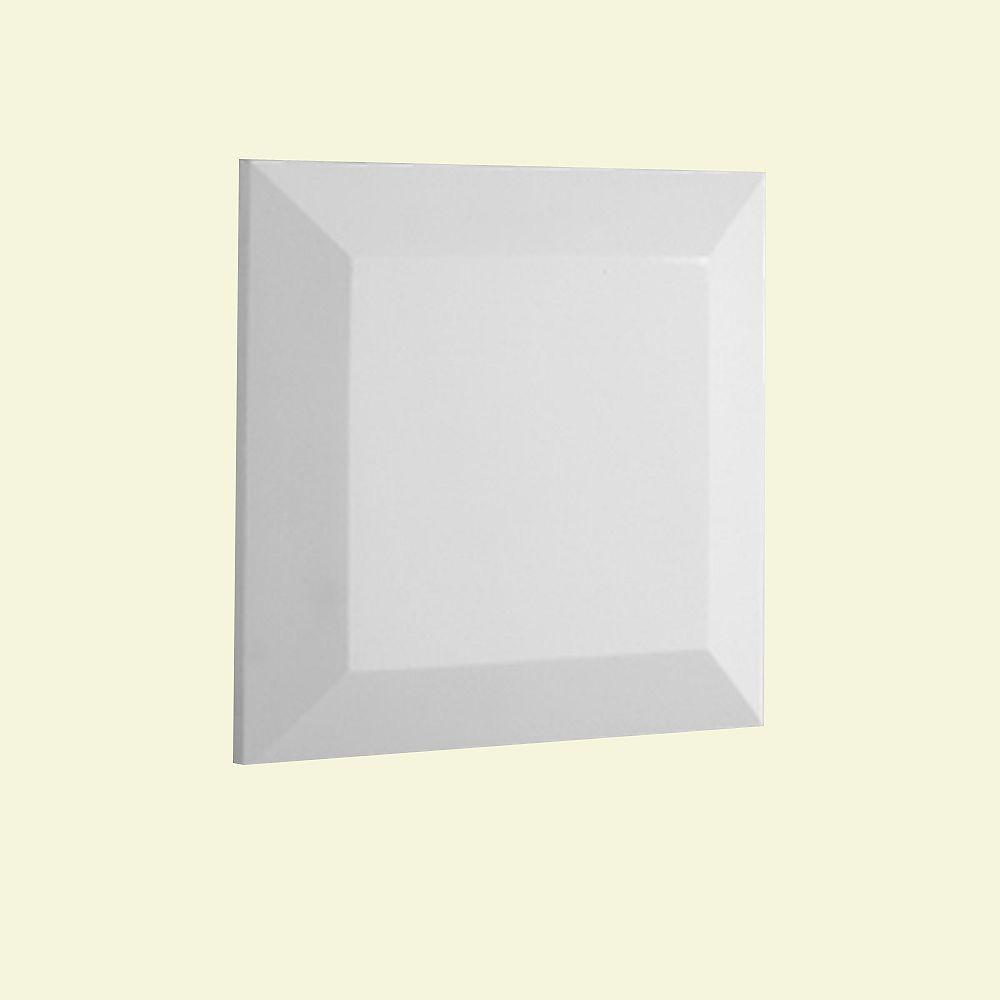 Fypon Capuchon de pilastre plat pour balustrade de 5 po en polyuréthane 1-1/2 po x 6-1/2 po x 6-1/2 po
