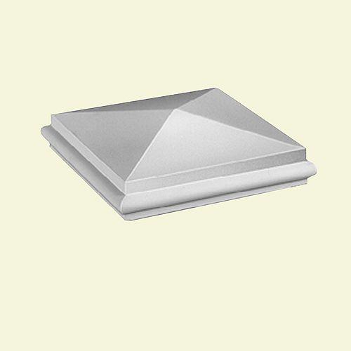Capuchon de pilastre standard pointu et élégant pour balustrade de 7 po en polyuréthane 3 po x 9-3/8 po x 9-3/8 po