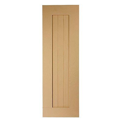 40 Inch x 18 Inch x 1 Inch Wood Grain Texture 3-Plank Flat Panel Shutter