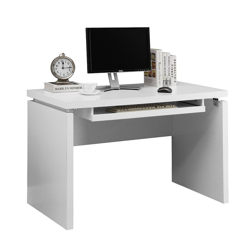 Monarch Specialties 48-inch x 31-inch x 24-inch Standard Computer Desk in White