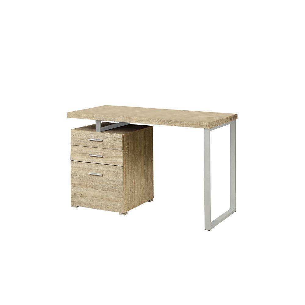Monarch Specialties 24-inch x 30-inch x 48-inch Standard Computer Desk in Natural