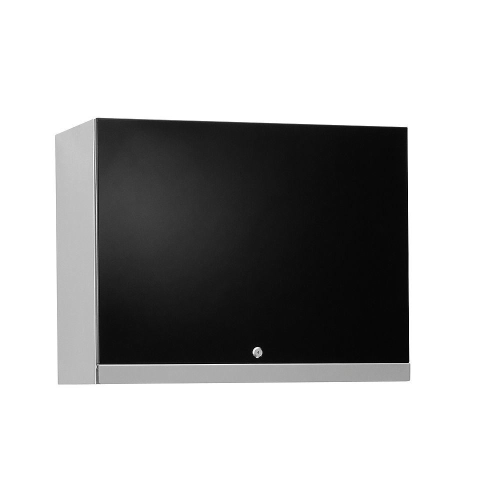 NewAge Products Inc. Performance Plus 22 Inch H x 28 Inch W x 14 Inch D Metal Wall Cabinet in Black