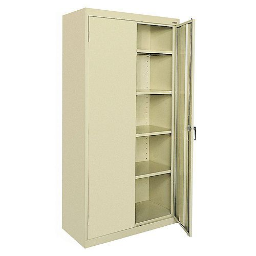 Classic Series 36-inch W x 72-inch H x 18-inch D Storage Cabinet with Adjustable Shelves in Putty