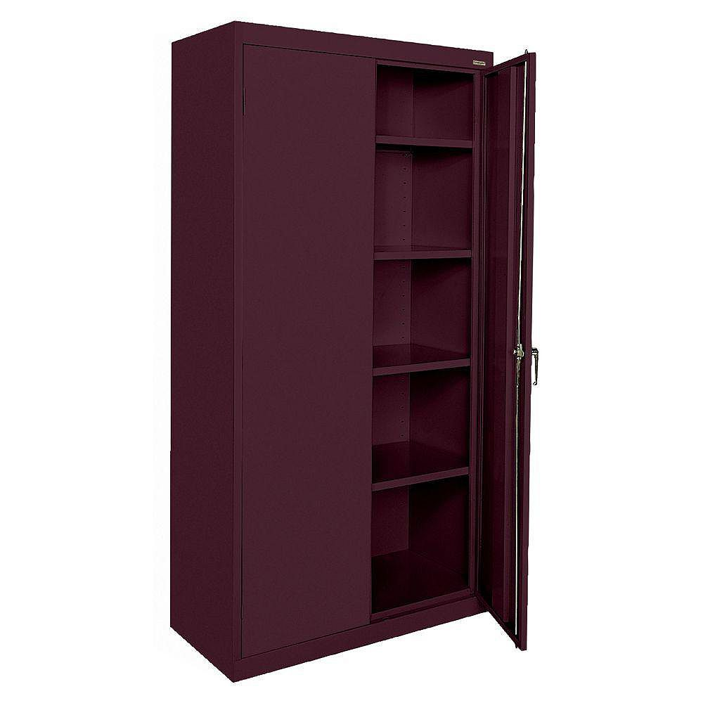 Classic Series 36-inch W x 72-inch H x 18-inch D Storage Cabinet with Adjustable Shelves in Burgundy