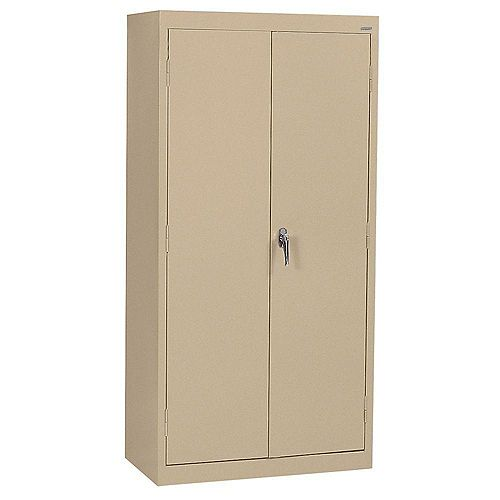Classic Series 36-inch W x 72-inch H x 18-inch D Storage Cabinet with Adjustable Shelves in Tropical Sand