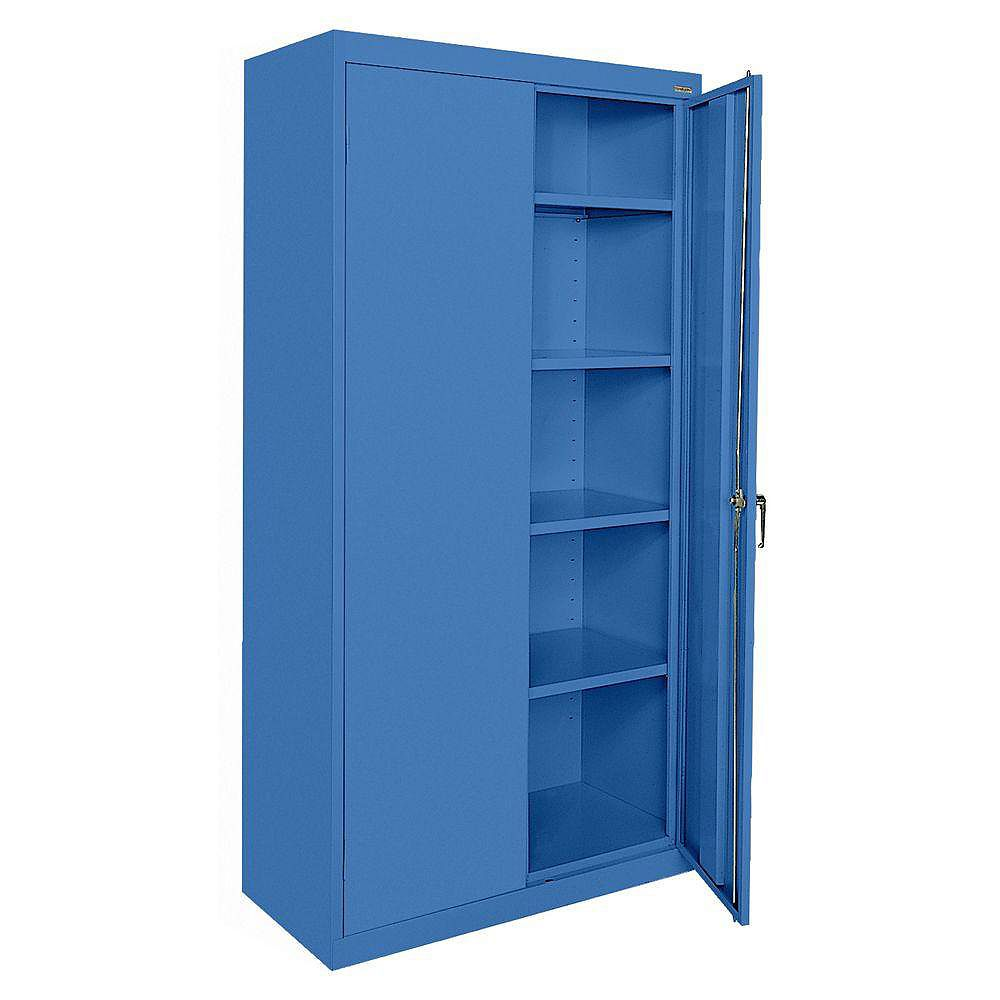Classic Series 36-inch W x 72-inch H x 18-inch D Storage Cabinet with Adjustable Shelves in Blue