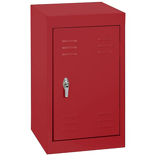 15 po L x 15 x 24 po in.D H Single Tier soudés en acier Locker dans Fire Engine Red