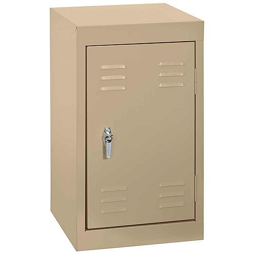 15 Inch L x 15 Inch D x 24 Inch H Single Tier Welded Steel Locker in Tropic Sand