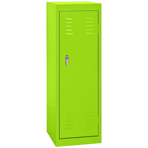15 Inch L x 15 Inch D x 48 Inch H Single Tier Welded Steel Locker in Electric Green