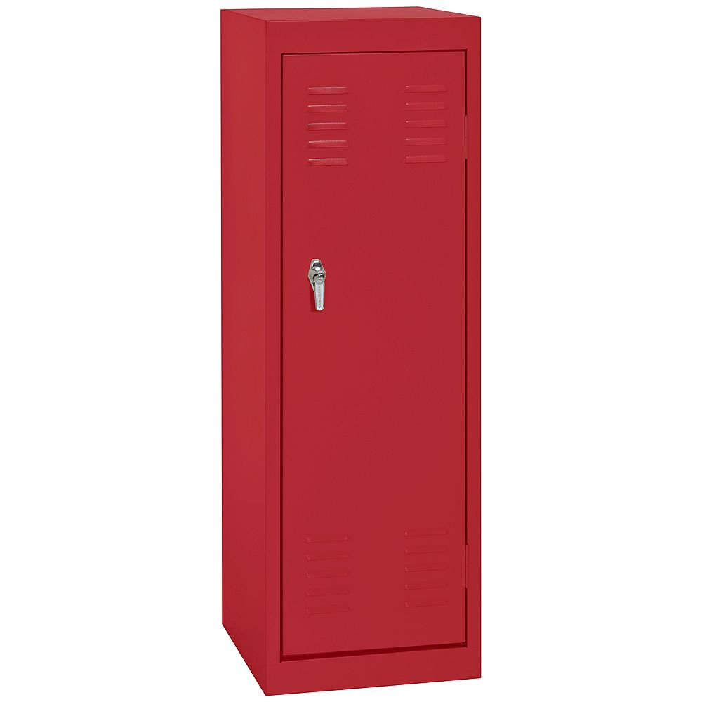 Sandusky 15 Inch L x 15 Inch D x 48 Inch H Single Tier Welded Steel Locker in Fire Engine Red