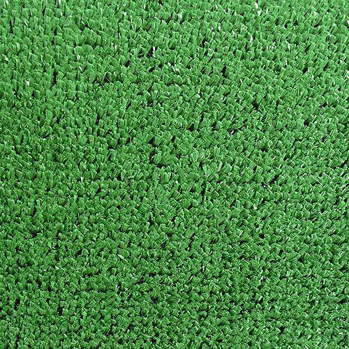 Turf Green 8 ft. x 10 ft. Indoor/Outdoor Contemporary Rectangular Area Rug