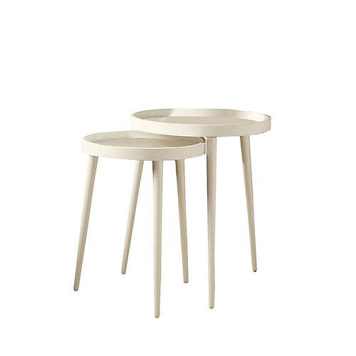 Tables Gigognes - Ens. 2Pcs / Blanc