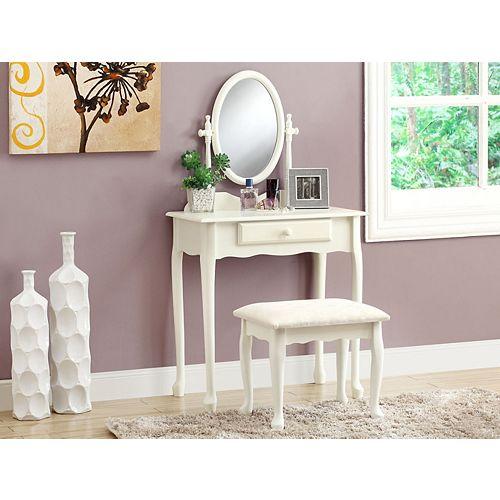 Bedroom Vanity Set in Antique White (2-Piece)