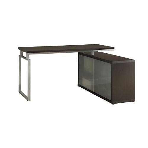 60-inch x 31-inch x 48-inch Corner Computer Desk in Brown