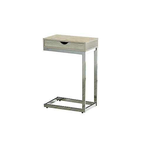 Monarch Specialties Table D'Appoint - Naturel Avec Metal Chrome