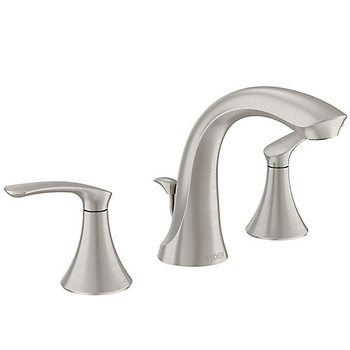 Darcy 8-inch Widespread 2-Handle High-Arc Bathroom Faucet in Spot Resist Brushed Nickel