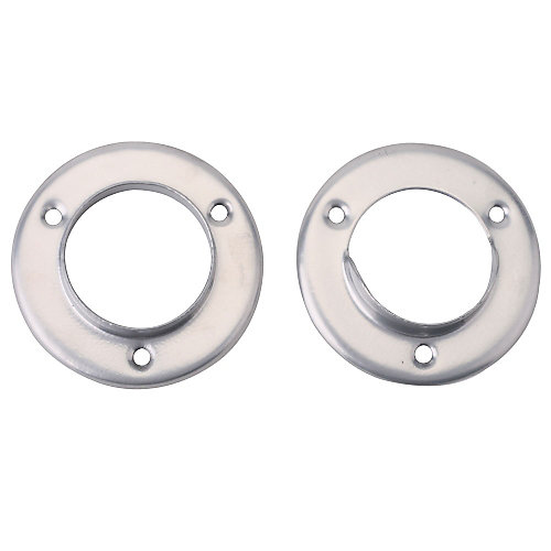 1 3/8-inch Closet Pole Socket in Platinum Steel (2-Pack)