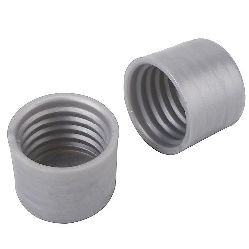 1 1/4-inch Closet Pole End Caps in Platinum (2-Pack)