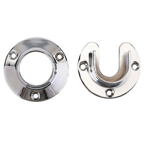 1 5/16-inch Heavy Duty Closet Pole Sockets in Chrome (2-Pack)