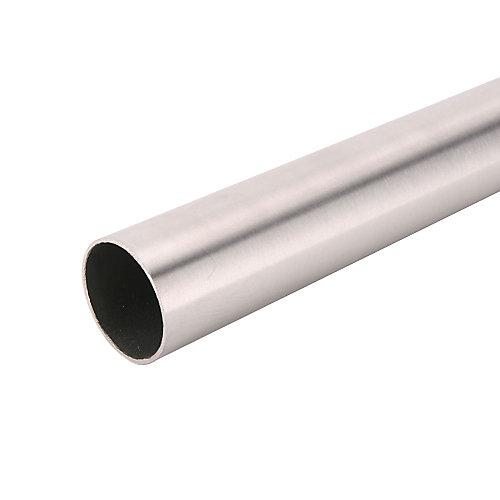 72-inch Heavy Duty Closet Rod in Brushed Nickel