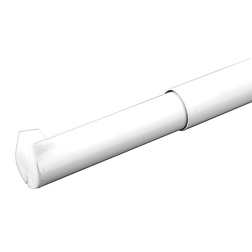 72-inch to 120-inch Adjustable Closet Rod in White